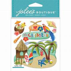 Scrapbooking Crafts Jolee S Stickers Dimensional Caribbean