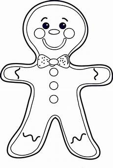 cheeky mr gingerbread on coloring page