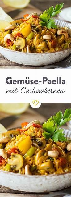 Bunte Gem 252 Se Paella Mit Ger 246 Steten Cashewkernen Rezept