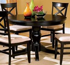 Black Dining Room Table by Black Finish Dining Room With Table
