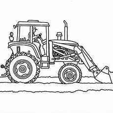 tractor plows coloring page print