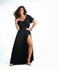 Robes 233 L 233 Gantes Robe Longue D Ete Pour Femme Ronde