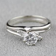 used wedding rings pre owned diamond engagement ring with 14 karat white gold