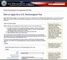 in united state of america visit visa ds 160 online application form