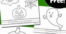 halloween tracing worksheets totschooling toddler
