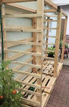 Paletten Upcycling Massiven Holzunterstand Selbst Bauen