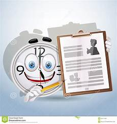 watch smile shows resume worker stock vector