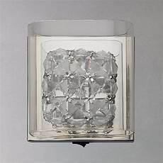buy john lewis vincenzo square crystal cube wall light john lewis