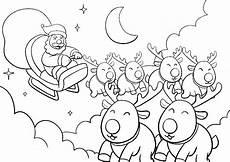 malvorlagen weihnachtsmann mit schlitten coloring and