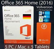 microsoft office 365 home 2016 vollversion box 5 pc mac