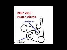 2013 nissan altima 2 5 s serpentine belt diagram 2007 2008 2009 2010 2011 2012 2013 nissan altima belt