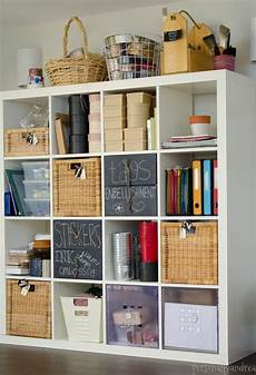 pottery barn inspired expedit for craft storage craft