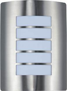 64331wtsst view led e26 contemporary stainless steel led outdoor wall sconce lighting