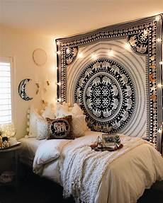 White Tapestry Bedroom Ideas by Black White Elephant Parade Mandala Tapestry Room