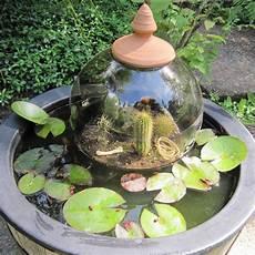 miniteich mit wasserspiel miniteich im fass selber bauen und bepflanzen bei