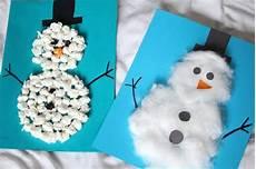 basteln mit kindern 3 winter diy schneemann ideen