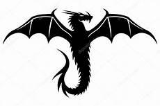 Drachen Schwarz Weiß - zwarte draak op wit stockvector 169 taronin 87430274