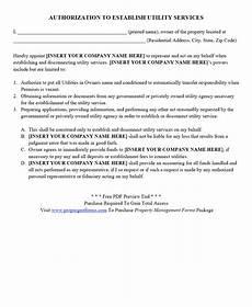 authorization to establish utility services pdf lettering business names utility services