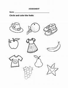 fruits worksheet