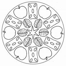 fruits and nuts mandala for pre k kindergarten and