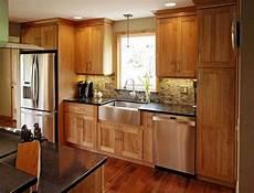 Kitchen Backsplash Ideas With Birch Cabinets by High Resolution Birch Cabinets Design In 2019