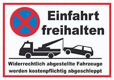 Parken Verboten Einfahrt Freihalten Schild Hb Druck