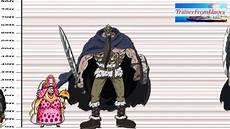One Piece Anime Size Chart One Piece Character Sizes Youtube