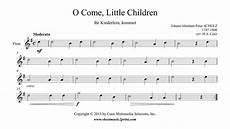 o come little children flute youtube