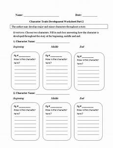 reading worksheets character traits worksheets
