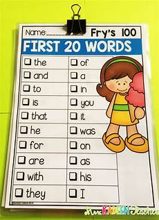 sight word checklists editable preschool sight words