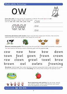 teach the grapheme ow with this phonics worksheet teachwire teaching resource