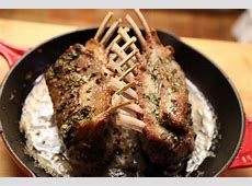 Holiday Dinner Main Dish: Roast Rack of Lamb with Garlic