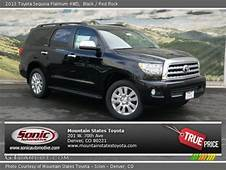 Black  2013 Toyota Sequoia Platinum 4WD Red Rock