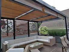 Roof Deck Pergola Retractable Landscape Garden