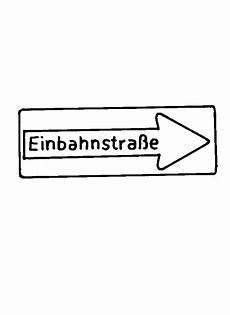 Verkehrsschilder Malvorlagen Gratis Verkehrszeichen Einbahnstrasse Ausmalbild Malvorlage