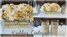 diy rustic glam wedding centerpiece ft tottaly dazzled