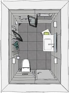 Kleines Bad Mit Dusche Grundriss - grundriss kleines badezimmer mit wegfaltbarer dusche