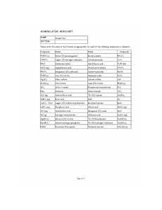 nomenclature worksheet 1 monatomic ions breadandhearth
