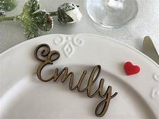 wooden laser cut names wedding table place custom name place setting wooden table place cards