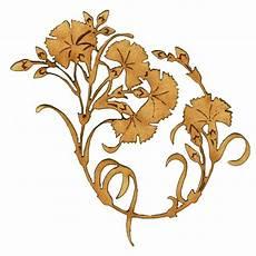 Deco Nouveau Wood Shape Floral Ornament Style 29