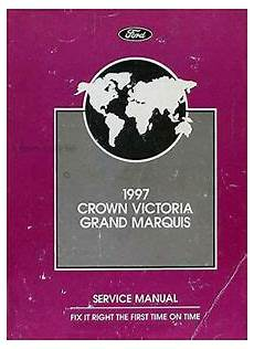 car repair manuals download 1997 ford crown victoria on board diagnostic system 1997 crown victoria and grand marquis repair shop manual ford mercury original ebay