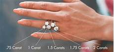 what s the average diamond size for an engagement ring in 2017 diamond sizes rings