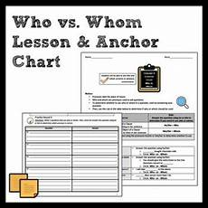 grammar worksheets who or whom 25034 who vs whom grammar lesson anchor chart by middle school writer