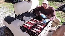 golf cart battery diagram ez go golf cart maintenance battery fill test wash ezgo review