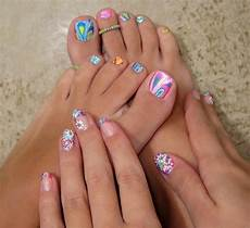swirled toe polish nail designs pinterest
