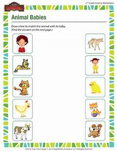 baby animals worksheets for 2nd grade animal babies free science worksheet for 2nd grade sod