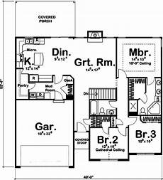 theplancollection com house plans traditional home plan 3 bedrms 2 baths 1550 sq ft