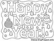Malvorlagen Happy New Years Coloring