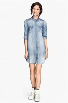 longue chemise en jean h m clothes