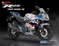 Yamaha R15 Modifikasi Stiker by Decal R15 Putih Biru Modifikasi Yamaha R15 Prostiker
